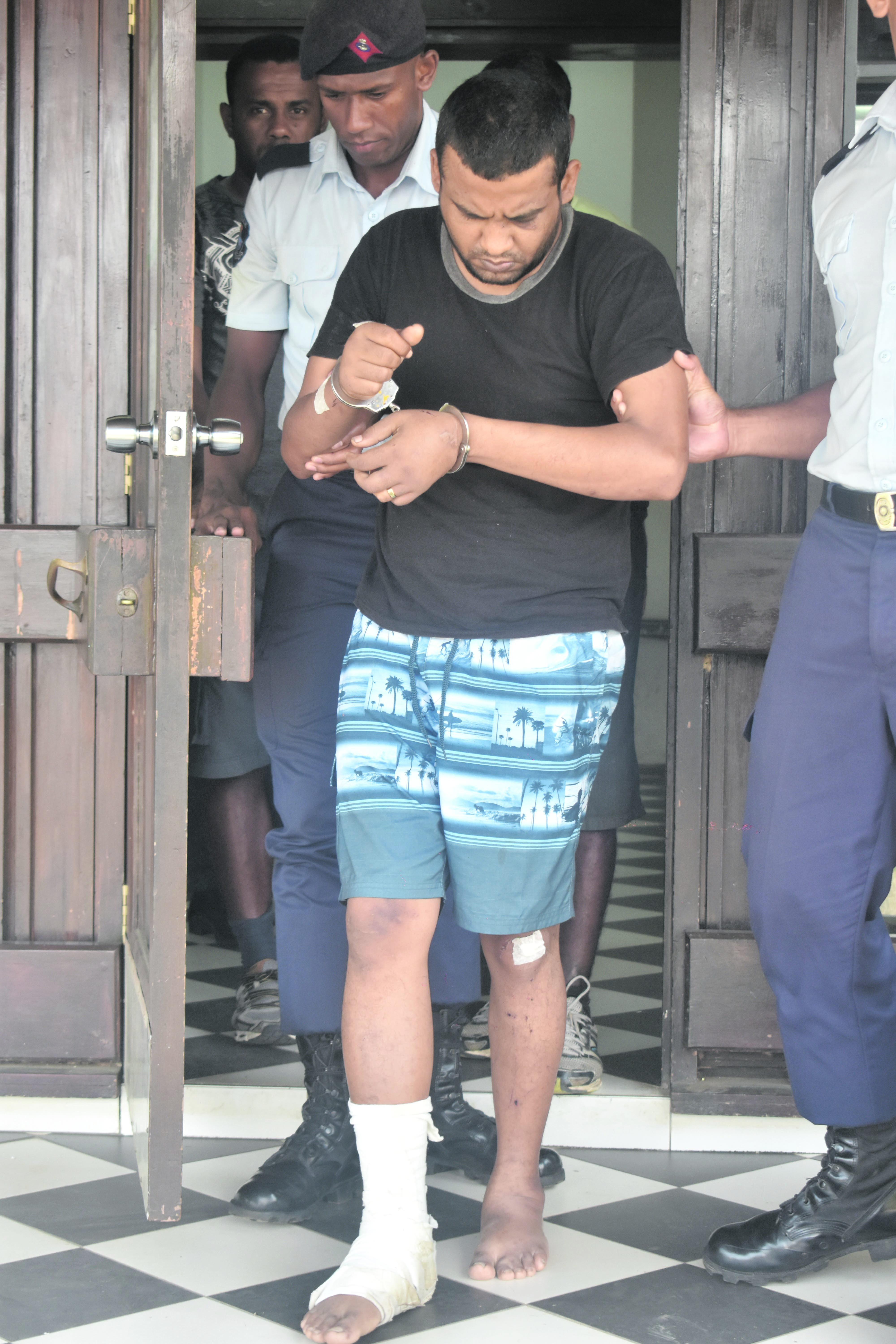 Deshwar Kishore Dutt outside the Nadi courthouse after the special court sitting.  Photo: Lusi Banuve
