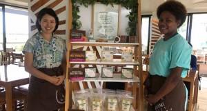 Grace Road Group staff with various Fijian made products at the Korean Grill at Waitaloa, Nadi.  Photo: Lusiana Banuve