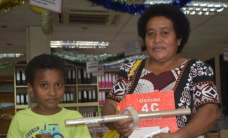 Parents and guardians flock to  Labasa town to buy  stationery