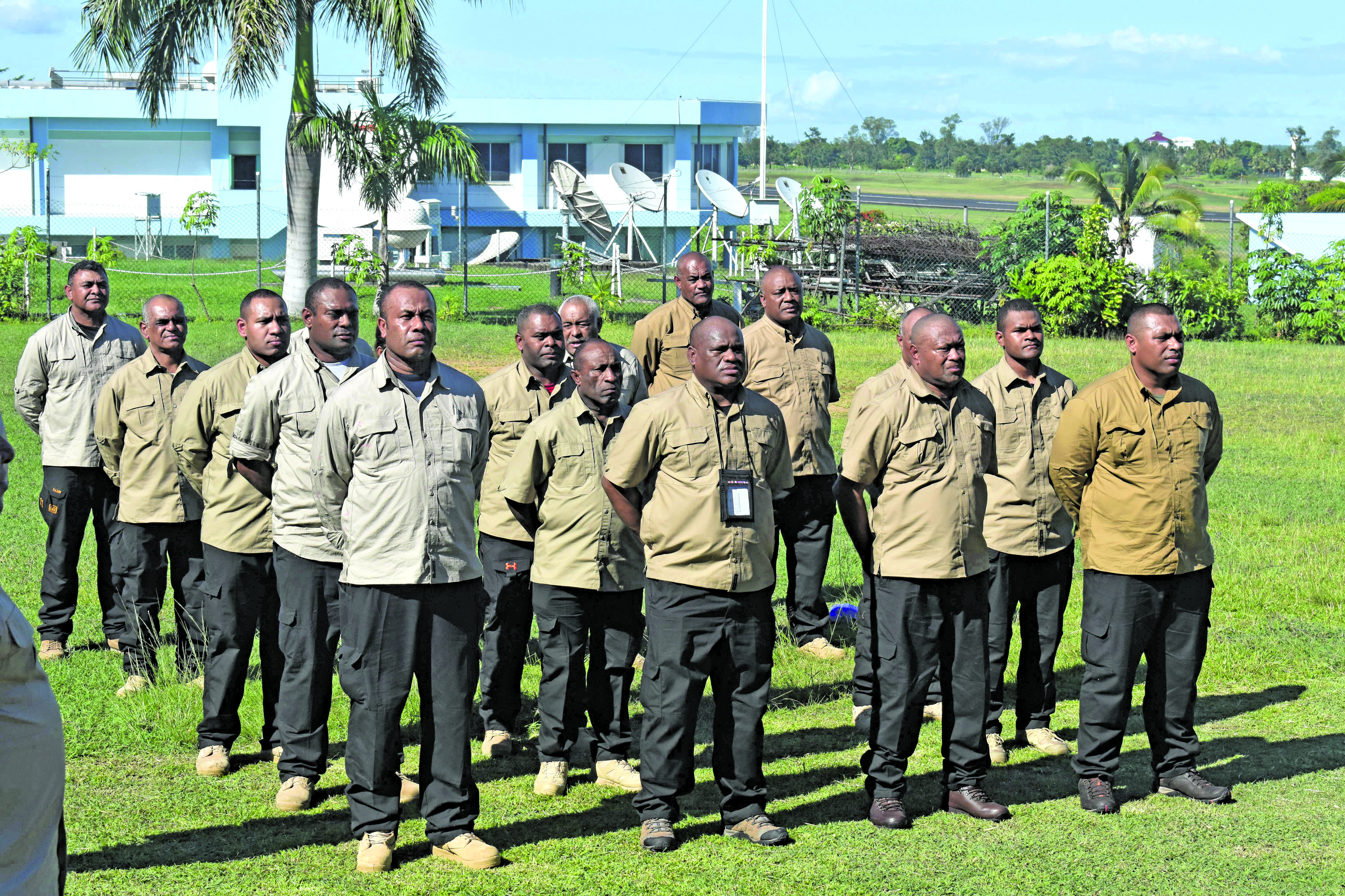 Republic of the Fiji Military Forces 23 personnel at Nadi Camp on 5 January 2017. Photo: Lusiana Banuve
