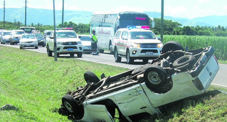 Minister's Wife  And Five, Including  Grandchildren, Survive Crash