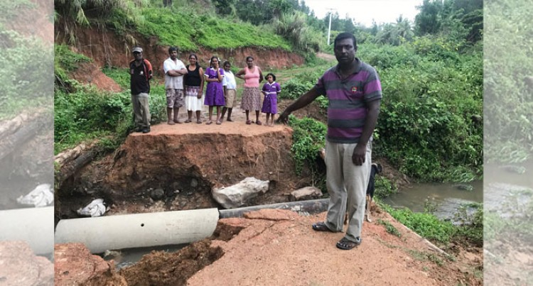 Washed Away Crossing Makes Students' Travels Harder