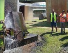 Water Authority board  members inspect leaking valve