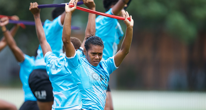 Fiji Airways Fijiana 7s captain Ana Maria Roqica during training in Sydney on January 25,2018. The women play Canada at 11:22am in their pool opener today,Russia at 1:44pm and Ireland at 4:50pm. Photo: Kitione Rokomanu/Zoom Fiji