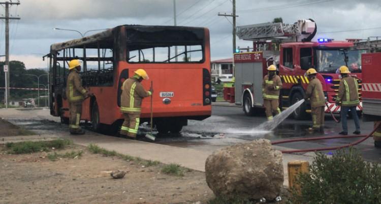 Bus Fire Under Probe
