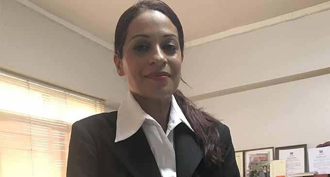 Sabrina Iqbal Khan in her office yesterday in Lautoka. Photo: Lusi Banuve