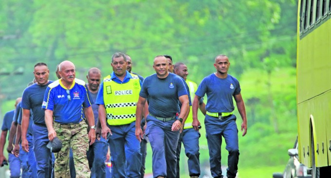 President Leads Officers On Morning Walk