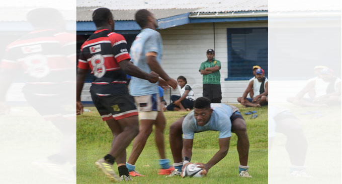 Suva halfback Peni Matawalu scores a try against Naitasiri in the Skipper Provincial Rugby 10s final at Bidesi Park, Suva on January 13, 2018. Photo: Peni Komaisavai.
