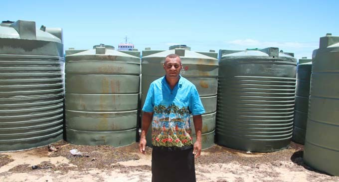 Water Tanks  Bring Joy  To Vatulele Islanders