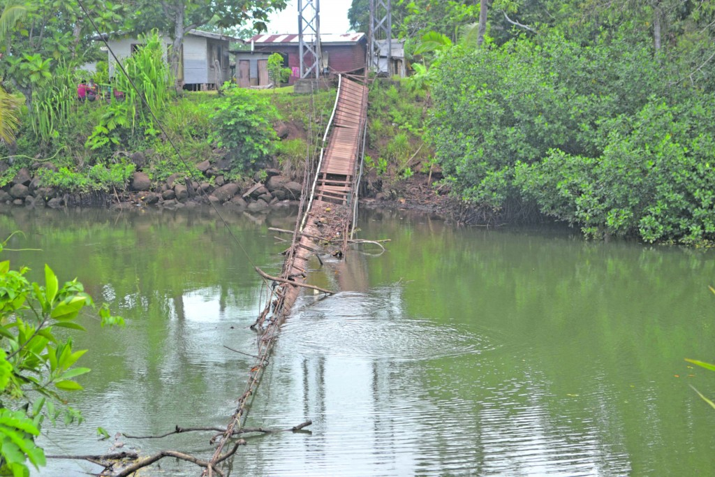 The damaged bridge at Bua Lomanikoro. Bua PHOTO;PENI DRAUNA