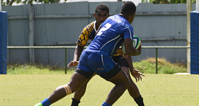 Actions from the match between Police and Calia 2 during the Congo Waimanu Seven's at Ratu Cakobau Park on January 26, 2018.Photo:  Peni Komaisavai