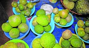 Lemons selling at $2 a heap.