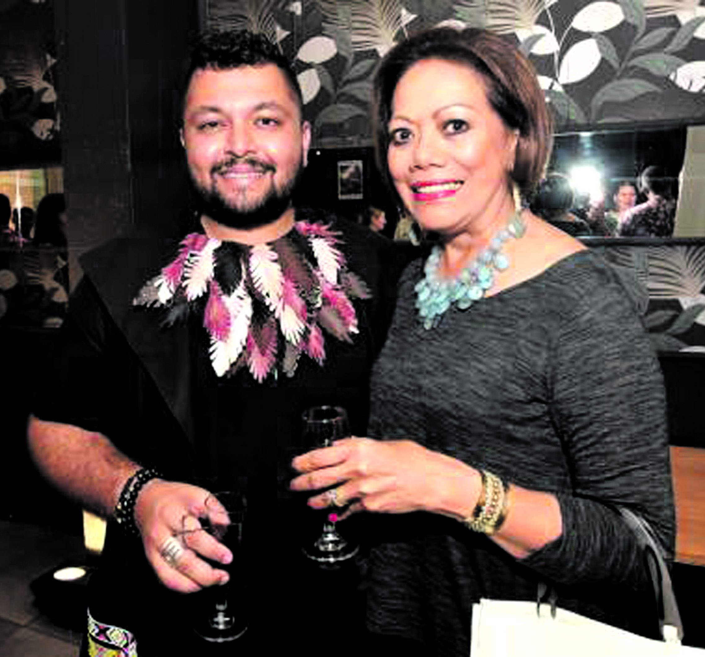 Faraz Ali Chairperson Fashion Council of Fiji and Fijian Fashion Festival Trustee (left), with Industry Pioneer and Fijian Fashion Festival Supporter Anna Sweetman.