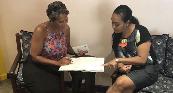 Fijian Fashion Festival events manager Sydel Whippy with Fijian Fashion Festival trustee Elaine Taylor