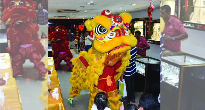 Public witnessed the Lion Dance at the Jewels Fiji store in Nadi on February 7, 2018. Photo: Waisea Nasokia