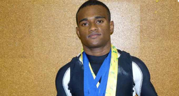 Fijian weightlifter Manueli Tulo.