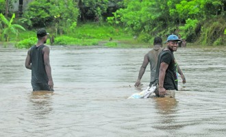 Villagers Forced To Swim Across River