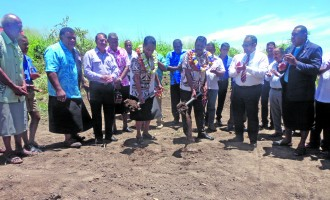 Bala Helps Start New Tavua Housing Project