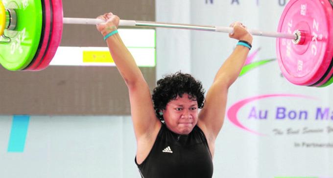 Eileen Cikamatana was named the Best Female Weightlifter in Australia. Photo: Peni Komaisavai