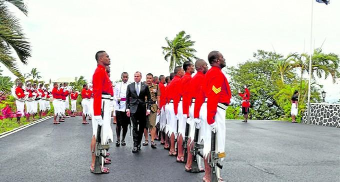 Australian High Commissioner  Visits RFMF Commander
