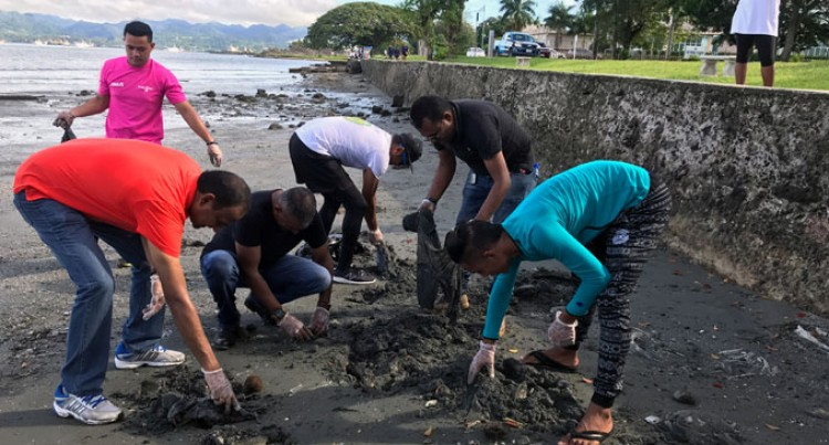 Koya, ANZ Staff Clean Up Suva Foreshore