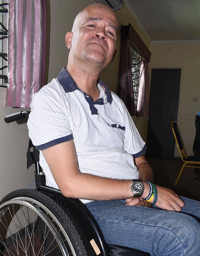 Fiji Disabled People's Federation president Joshco Wakaniyasi