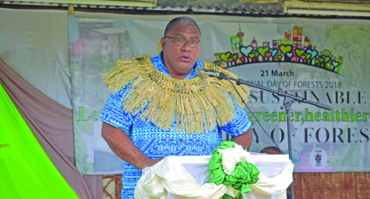 Tui Macuata issues reminder on importance of forests