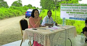 Minister for Health and Medical Services Rosy Akbar and Assistant Minister for Infrastructure and Transport Vijay Nath spoke during the Waituri Illegal Dump Site Clean-Up Operation in Waituri, Nausori on March 1, 2018. Photo: Ashna Kumar