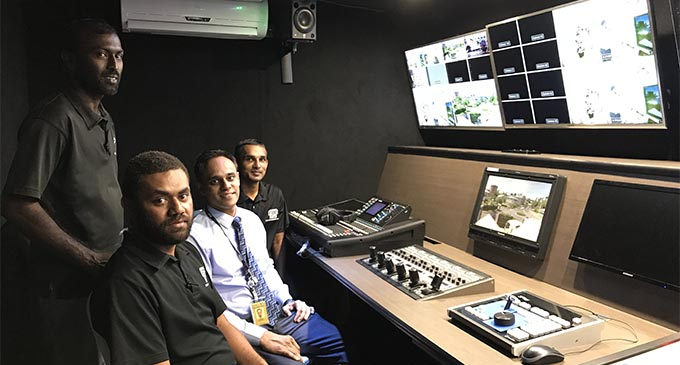 FBC TV manager Vinal Raj thanked his team and Mr Sayed-Khaiyum for the opportunity to do something different, not only for FBC but for Fiji as well. PHOTO: Ashna Kumar