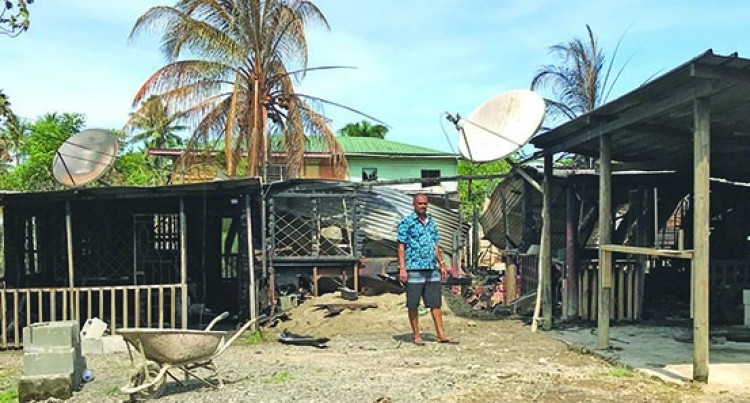 Fire Burns Nasinu Home as Owner Watches Helplessly
