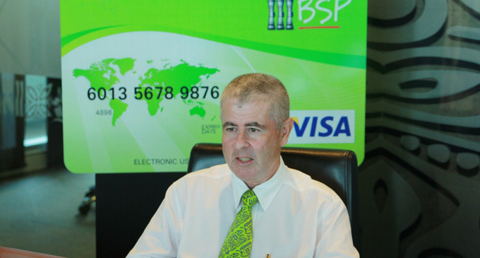 Outgoing Bank South Pacific Country head - Fiji, Kevin McCarthy
