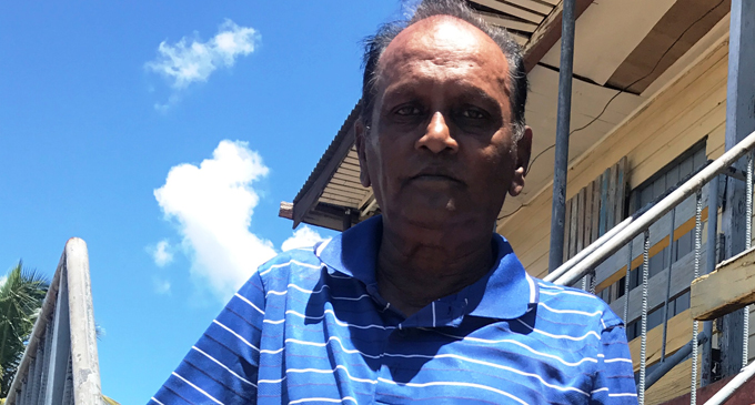 Mahendra Prasad at his home in Drasa, Lautoka