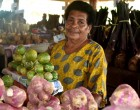 Vendor particular with quality of variety of vegetables she sells for her customers in Nadi