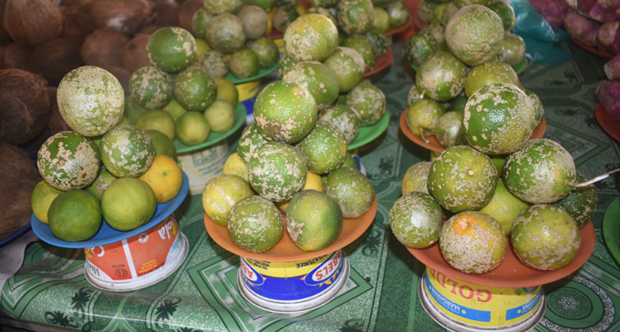 Lemon sold at Namaka Market in Nadi on 22 March 2018. Photo: Arieta Vakasukawaqa