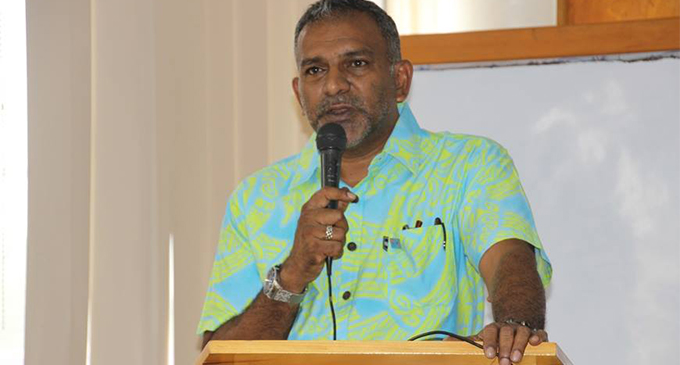 Minister for Industry, Trade, Tourism, Land and Mineral Resources Faiyaz Koya during the Young Entrepreneurs Scheme consultation in Labasa on March 29, 2018.   Photo: DEPTFO News