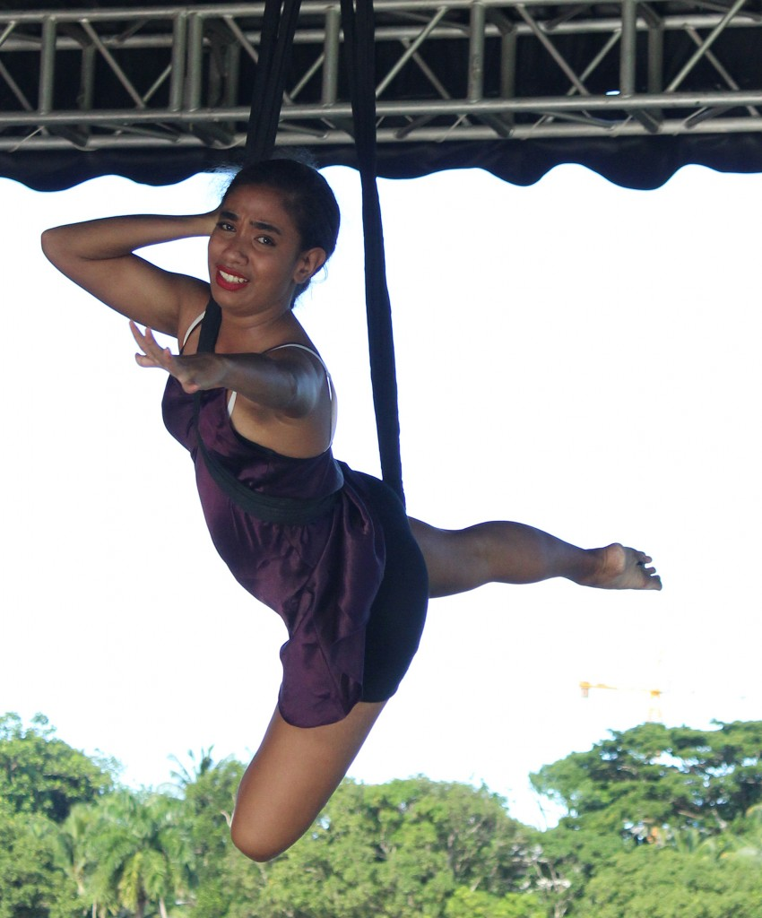 Nescafe Make your Move 2 one of the six finalist, Joseimaraya Ryland during her final preformance at Albert Park in Suva on March 10, 2018.Photo:Ronald Kumar.