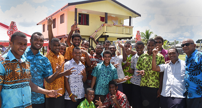 Nabua Villagers celebrate the opening of their Nabua Rugby Resource Centre by Prime MInister Voreqe Bainimarama on March 22, 2018. Photo: Ronald Kumar.