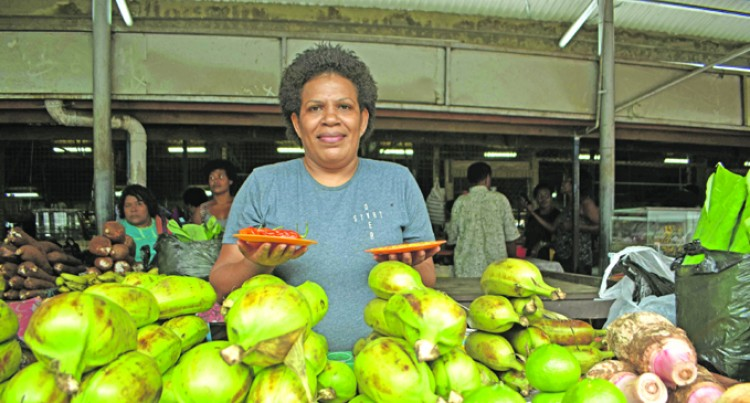 Market vendor overcomes shyness