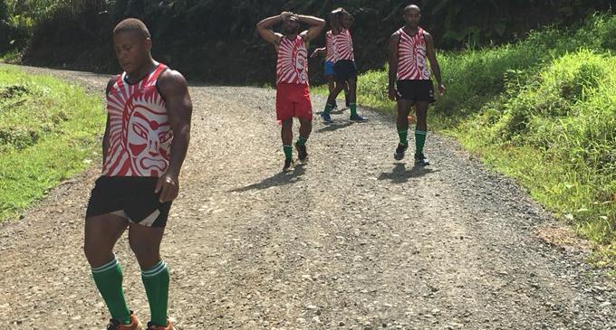 Samurai Baracudas 7s rugby team during their road run  session on March 13,2018. Photo: Sailosi Naiteqe