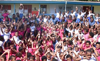 School Visit Boost Fiji Warriors