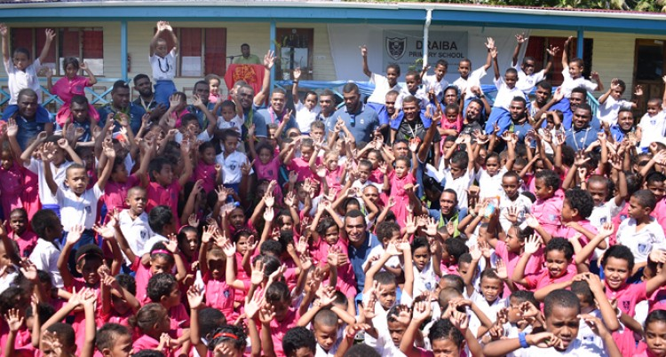 School Visit Boost Fiji Warriors