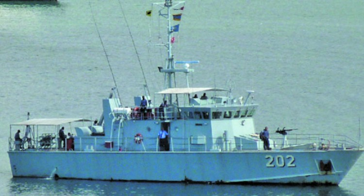 Fiji Navy Use Kikau To Conduct Joint Inspection