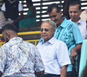FLP party leader Mahendera Pal Chaudhry at the 91 st TISI Sangam Convention opening at the Lawaqa park in Nadroga yesterday. Photo: WAISEA NASOKIA