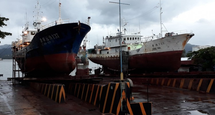 Vanuatu Vessel In Slipway For Repairs