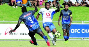 Action from the Lautoka and Marist FC at Churchill Park on April 22,2018. Photo: OFC