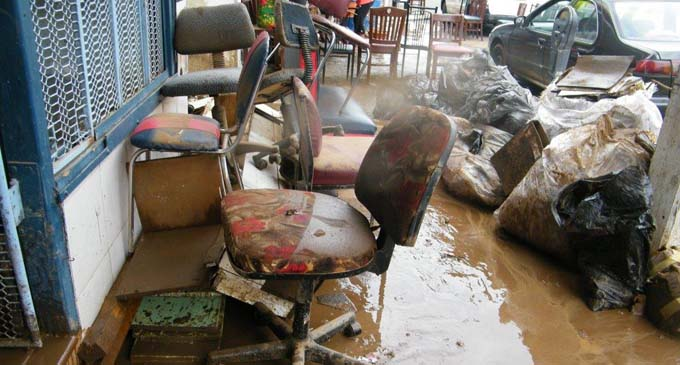 The aftermath of the flooding in Ba brought by Tropical Cyclone Josie.Photo: MS Bilimoria