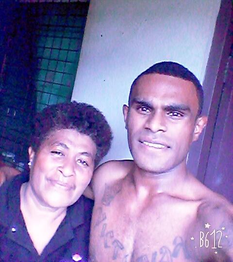 Mum Merewai Leibue with son Vunimasi Waqanitera Bukuya.