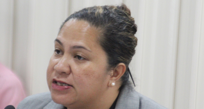 Fiji Law Society President Laurel Vaurasi during  Fiji Law Society's registration of Sex offenders Bill on April 6,2018.Photo:Simione Haravanua.