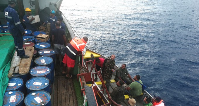 Soldiers Distribute Rations On Kadavu