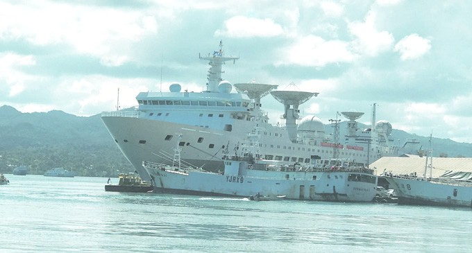 PRC Research Vessel Refuels, Restocks After 100 Days At Sea